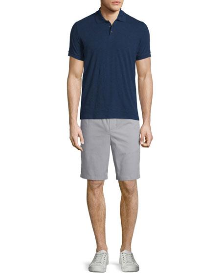 Vince Solid Short-Sleeve Polo Shirt, Indigo