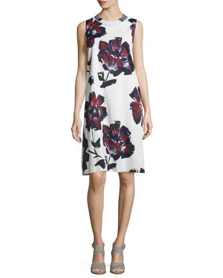 Lafayette 148 New York Palmer Sleeveless Brava Blooms-Print