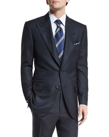 TOM FORD Windsor Base Birdseye Wool Two-Piece Suit,