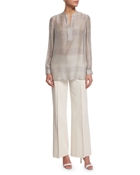 Lafayette 148 New York Dunham Blouse/Tunic, Raffia Multi
