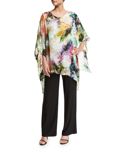 Caroline Rose Light Show Angled Devore Caftan Top