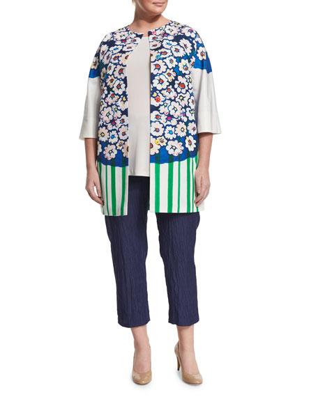 Marina RinaldiCiclad Flower-Print Jacket, Plus Size