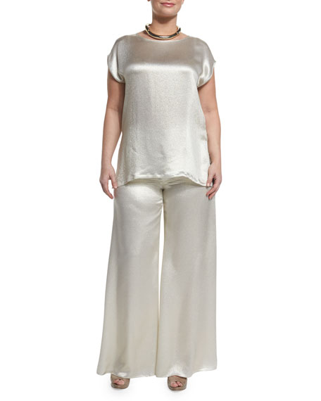 Marina RinaldiFastoso Silky Evening Top and Pants, Plus