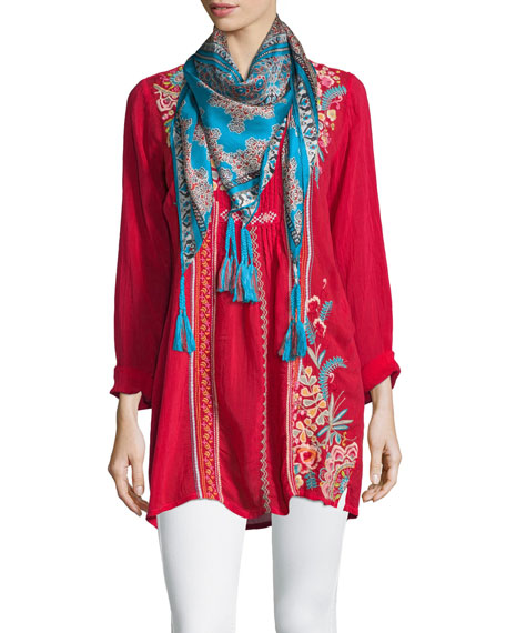 Johnny Was Collection Sheela Embroidered Long Tunic, Plus