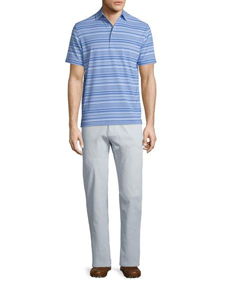 Peter Millar Javelin Striped Short-Sleeve Jersey Polo Shirt,