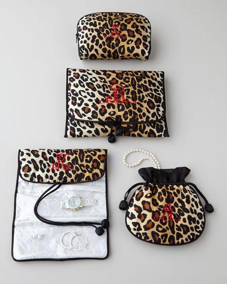 Zazendi Leopard-Print Cosmetic Bag