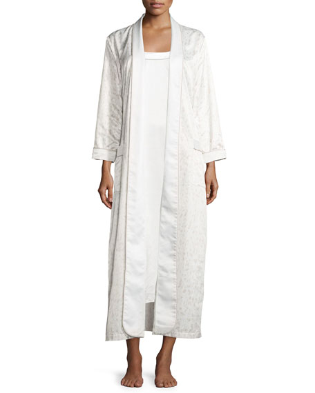 Louis at Home Perla Sleeveless Long Nightgown, White/Fawn