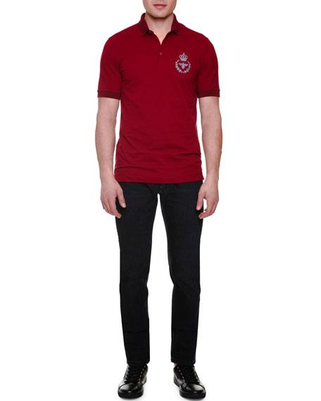 Dolce & Gabbana Embroidered-Logo Short-Sleeve Polo Shirt,