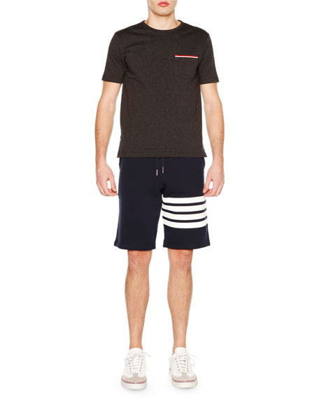 Thom Browne Short-Sleeve Jersey Tee, Charcoal