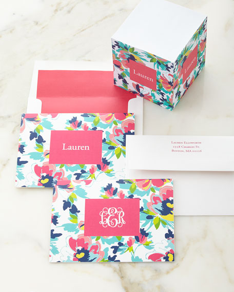 Carrie Floral Memo Cube