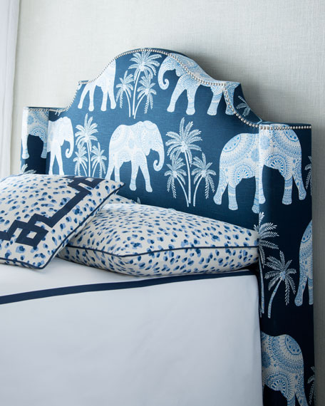 King Ellie Elephant-Print Duvet Cover