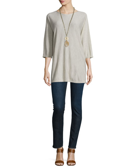 Eileen Fisher Fisher Project 3/4-Sleeve Seamless Tunic