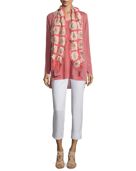 Eileen Fisher Linen-Blend Shaped Cardigan, Sandstone
