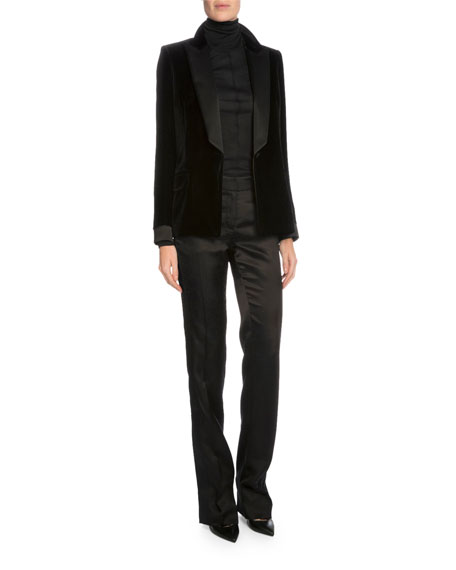 TOM FORD One-Button Tuxedo Jacket, Black