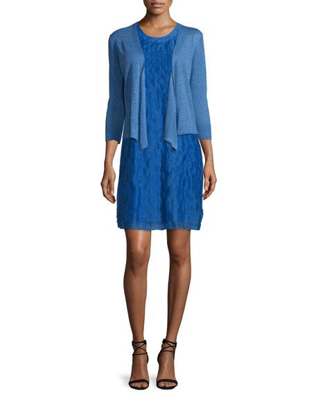 NIC+ZOE4-Way Linen-Blend Knit Cardigan, Gulf, Plus Size