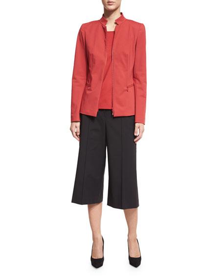 Lafayette 148 New York Mimi Zip-Front Jacket, Red