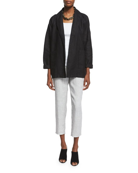 Eileen Fisher Heavy Linen Jacket with Pockets