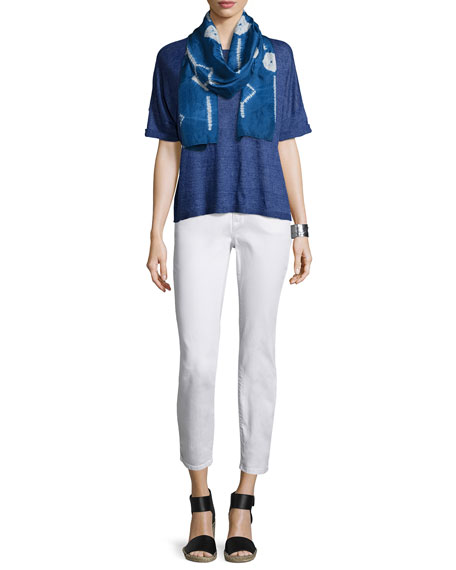 Eileen Fisher Short-Sleeve Delave Linen Top