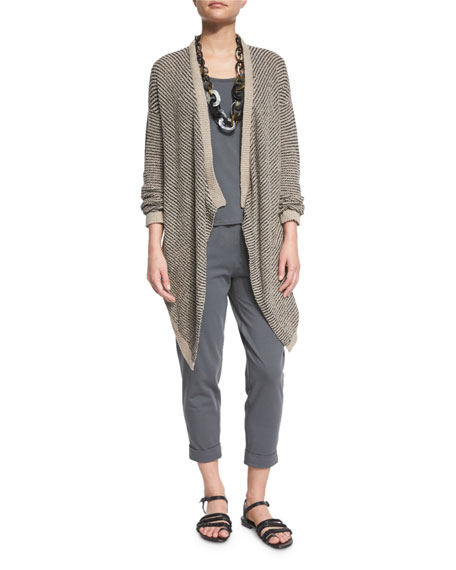 Eileen Fisher Boucle Striped Cardigan
