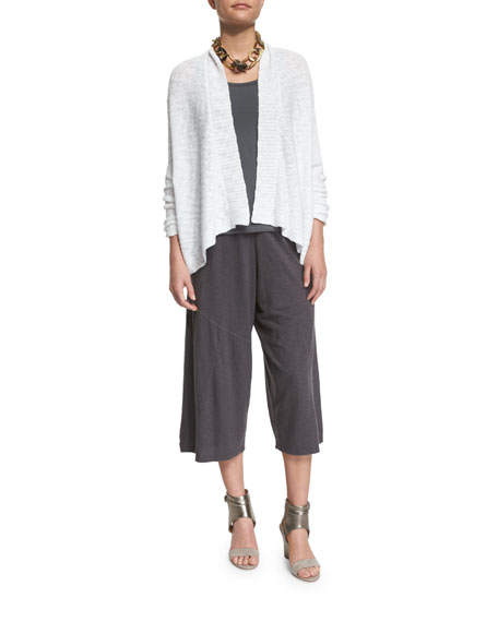Eileen Fisher Nubble Links Shirt Cardigan, White