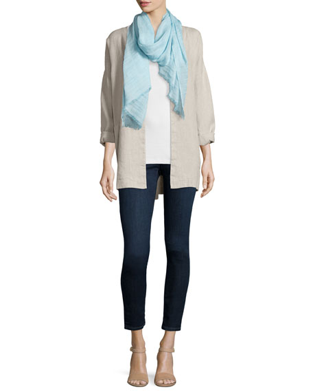 Eileen Fisher Hopsack Linen Boxy Jacket