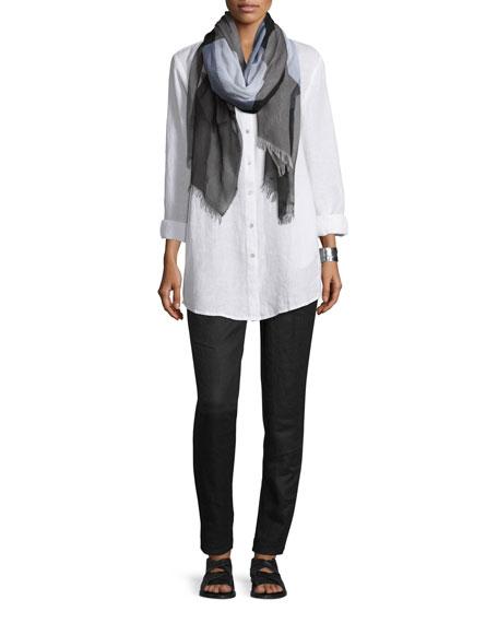 Eileen Fisher Organic Linen Long-Sleeve Tunic, Petite