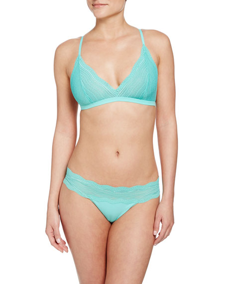 Cosabella Dolce Soft-Cup Lace Bra, Mint