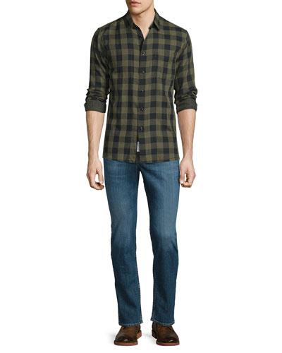 Beach Check Long-Sleeve Sport Shirt & Fit 2 Slim-Leg Denim Jeans