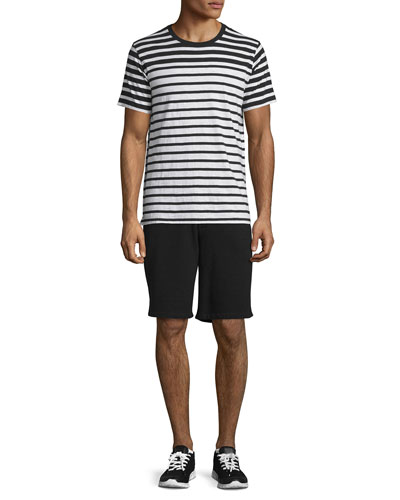 Colorblock Striped Short-Sleeve Tee & Standard Issue Drawstring Sweat Shorts