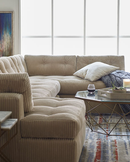 Old Hickory Tannery Mclain Ivory 3 Piece Sectional