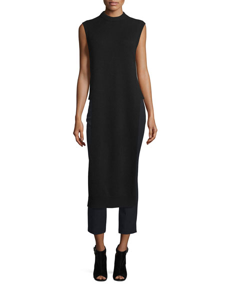 T by Alexander Wang Long Wool-Blend Dickey, Black