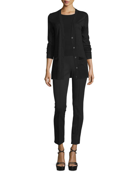 Michael Kors Collection Long-Sleeve Cashmere Cardigan Sweater,