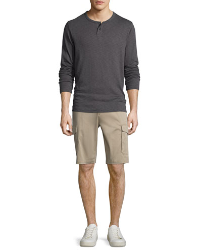 Gaskell Henley Shirt & Zaine Straight-Leg Cargo Shorts
