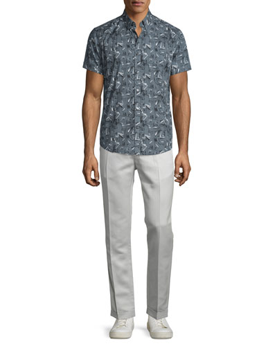 Coppolo Printed Short-Sleeve Shirt & Muller Slim-Fit Trousers