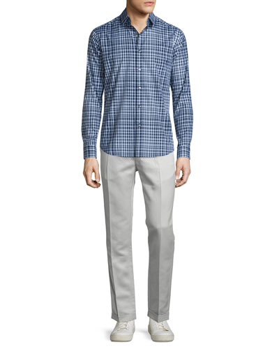 Sylvain Check Long-Sleeve Sport Shirt, Fading Multi & Muller Slim-Fit Trousers, Arp