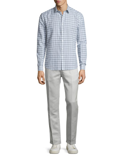 Zack Check Short-Sleeve Shirt & Muller Slim-Fit Trousers