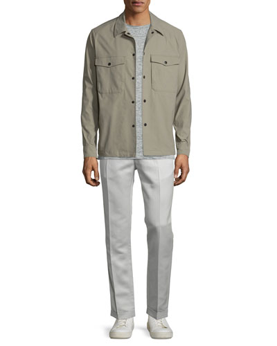 Drato Button-Front Shirt Jacket, Koree Linen T-Shirt & Muller Slim-Fit Trousers