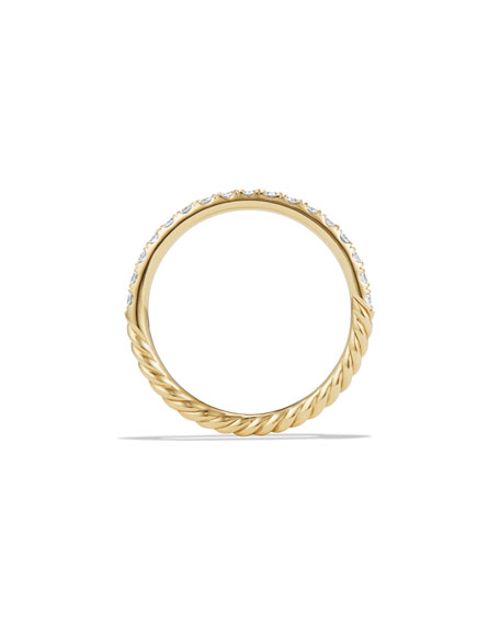 Cable Collectibles Pavé Diamond Band Ring in 18K Yellow Gold, Size 6