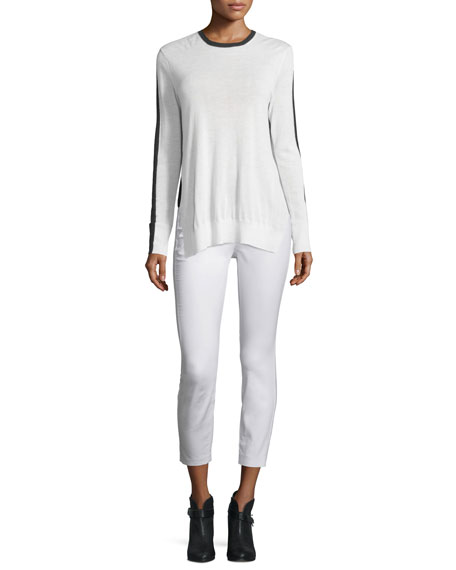 Rag & Bone Verity Two-Tone Cashmere Pullover Sweater,