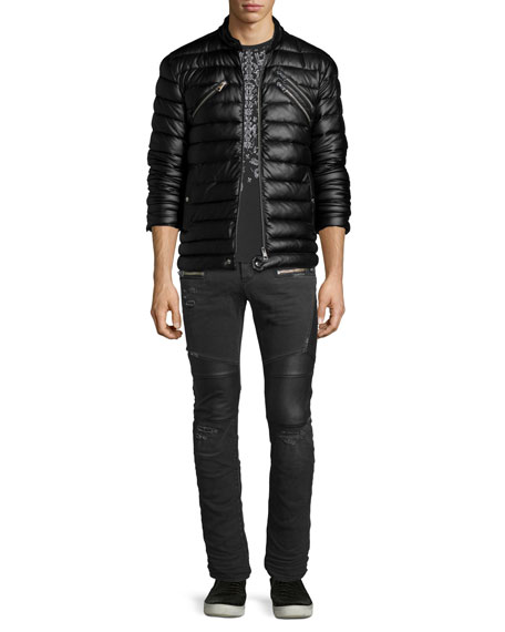 Just Cavalli Zip-Up Puffer Jacket, Black