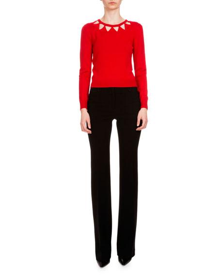 Altuzarra Woodward Triangle-Cutout Sweater, Tango