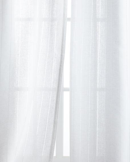 """Each 50""""W x 108""""L Hemstitch Stripe Curtain"""
