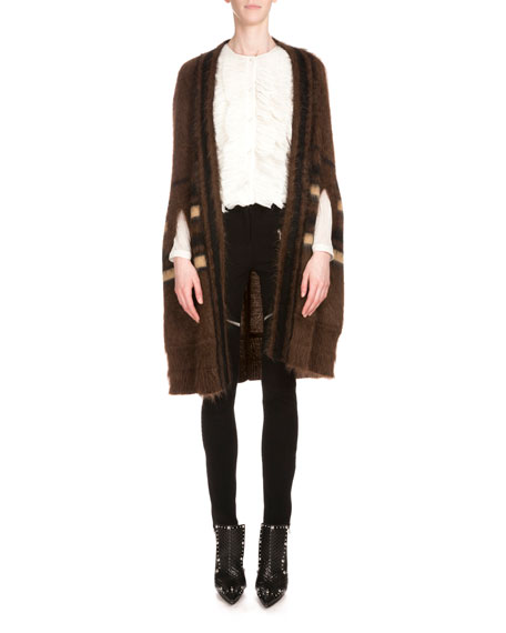 Givenchy Shawl-Collar Open-Front Coat, Light Brown