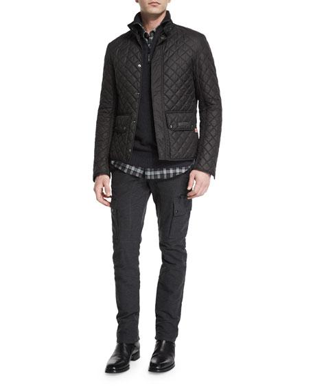 BelstaffWilson Lightweight Quilted Tech Jacket, Black