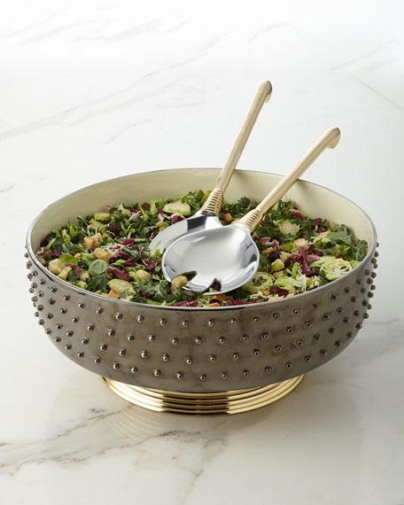 Nima Oberoi Lunares Djembe Salad Servers