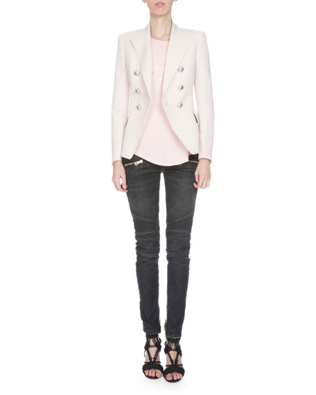 Balmain Classic Double-Breasted Blazer, Rose