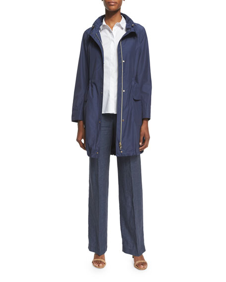 PesericoPolished Midi Drawstring Raincoat