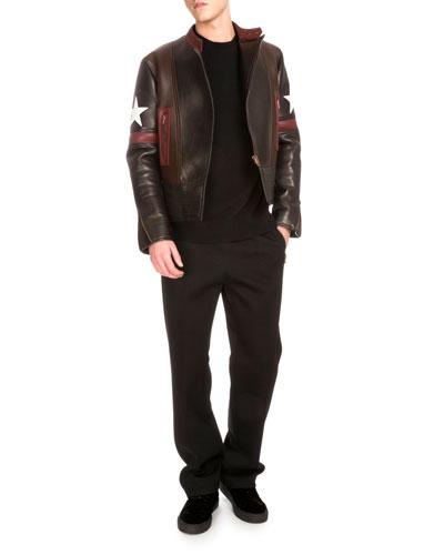 Biker Jacket, Sweater & Jogger Pants