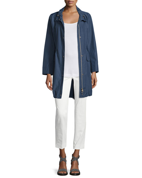 Peserico Polished Midi Drawstring Raincoat