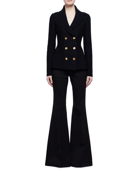Alexander McQueen Double-Breasted Sweater Jacket, Black